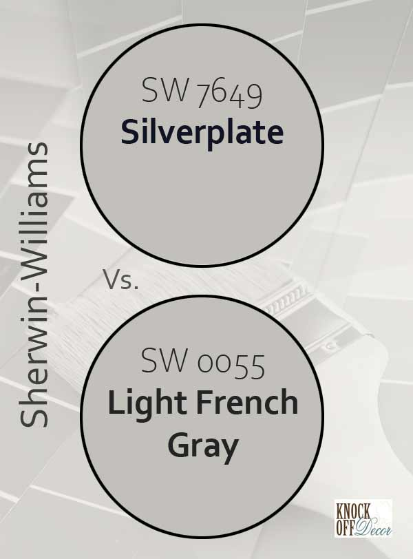 silverplate vs light french gray