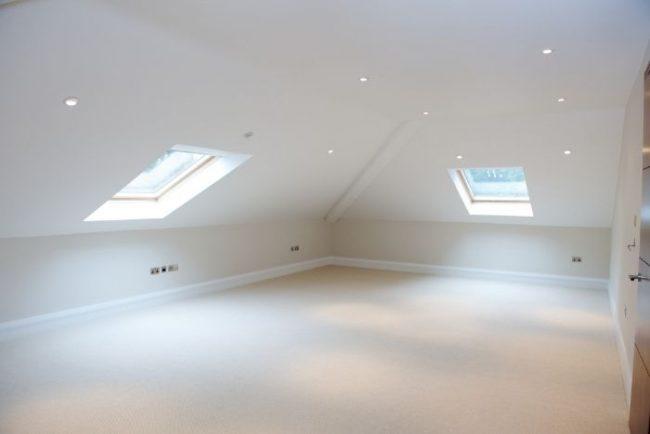 skylight in attic