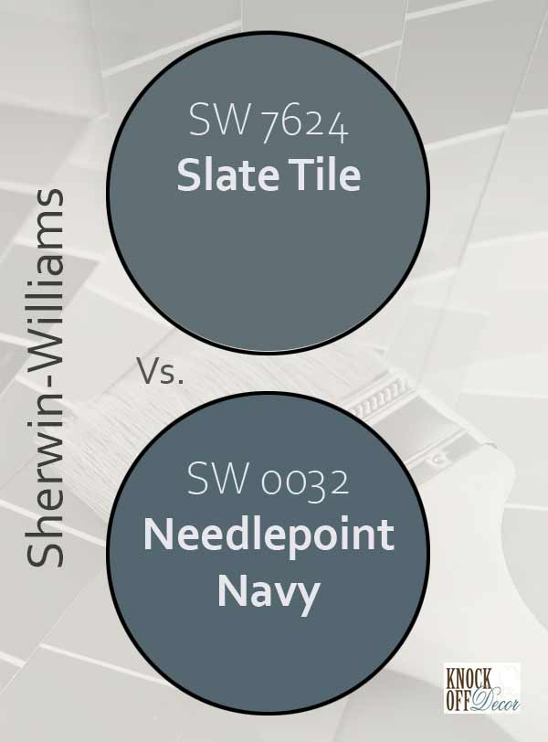 slate tile vs needlepoint navy
