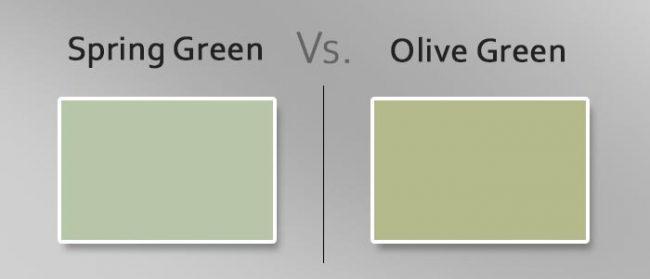 spring green vs olive green