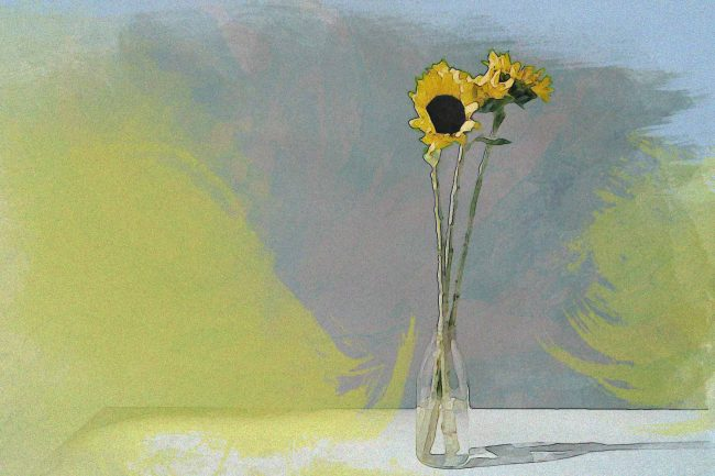 sunflower yellow jar