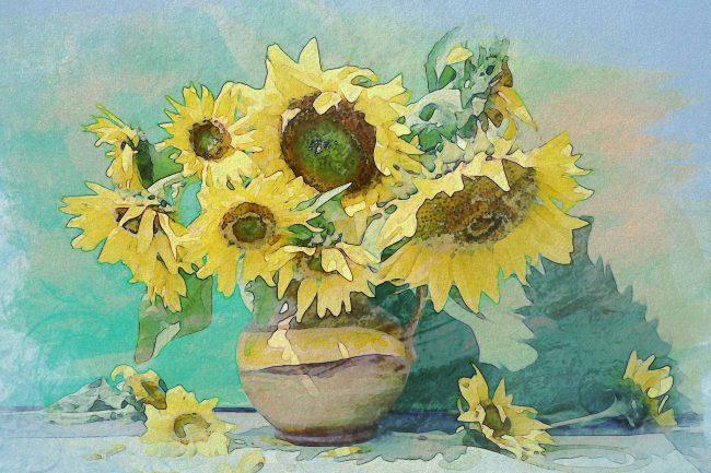 sunflower yellow tub