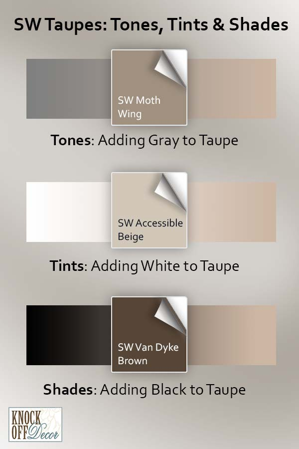 sw taupes shades