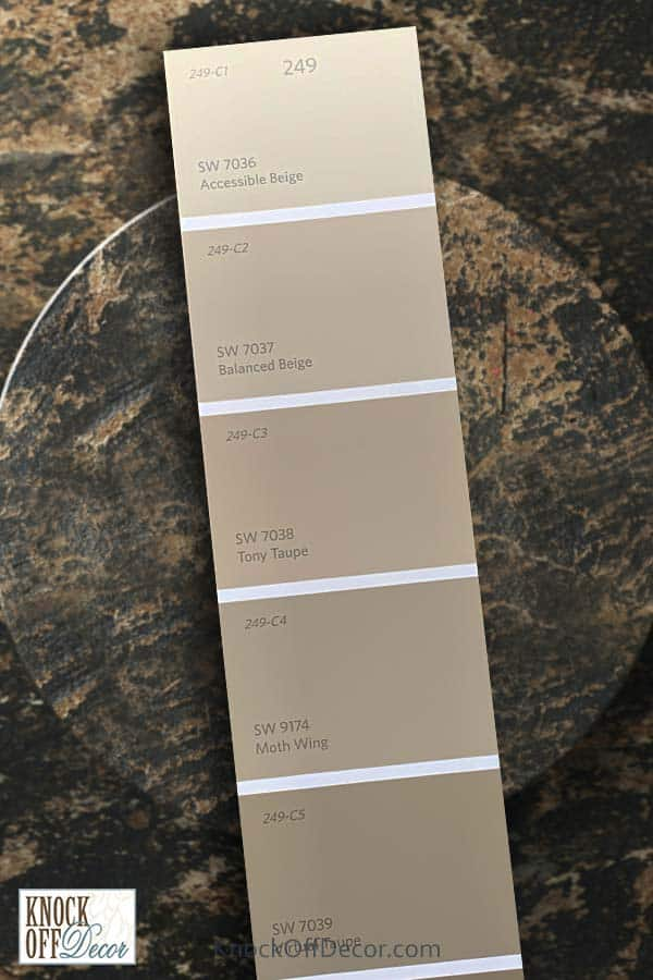 sw tony taupe single color deck