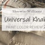 sw universal khaki paint color review