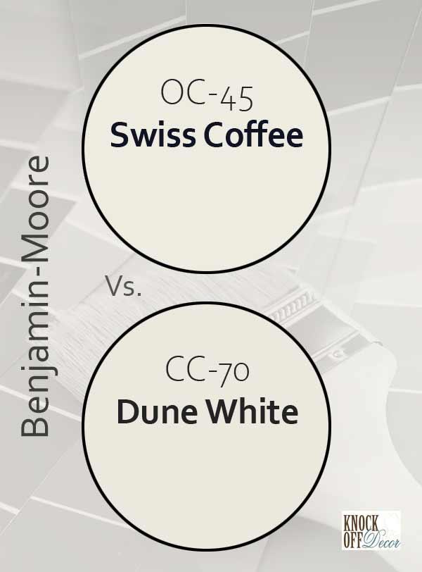 swiss coffee vs dune white