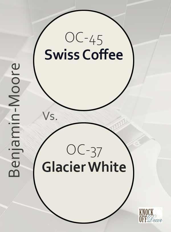 swiss coffee vs glacier white