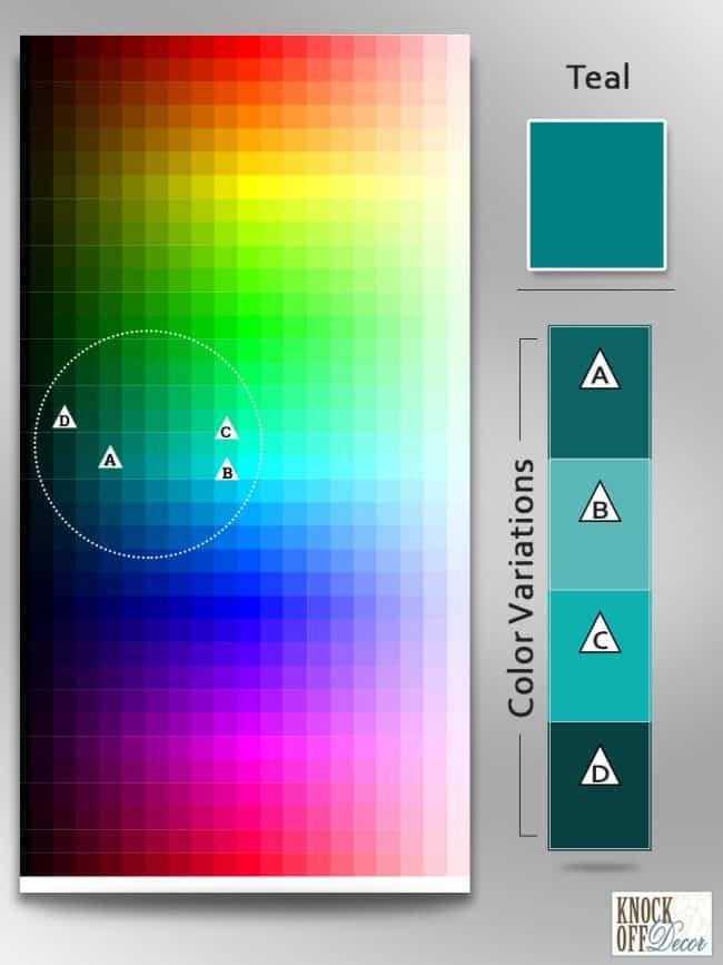 teal Color Variations