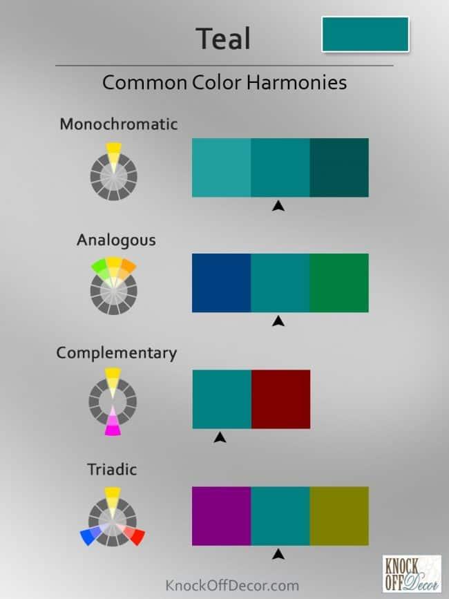 teal Color coordinations