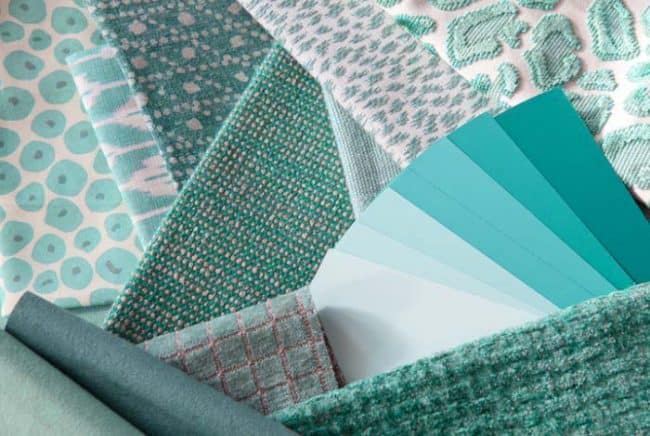 teal colored fabric examples