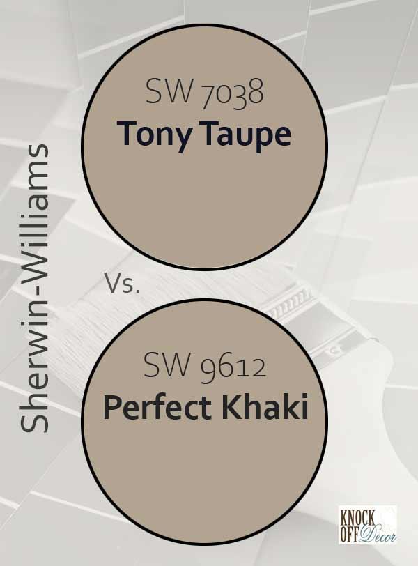 tony taupe vs perfect khaki