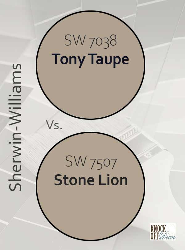 tony taupe vs stone lion