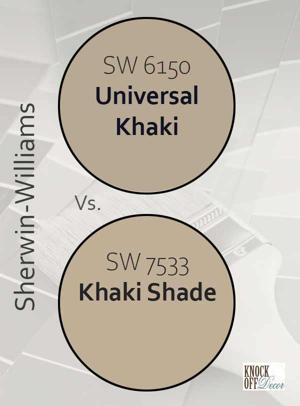 universal khaki vs khaki shade