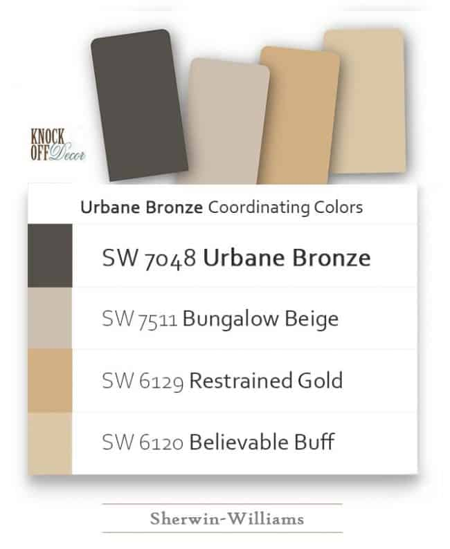 urbane bronze coordination