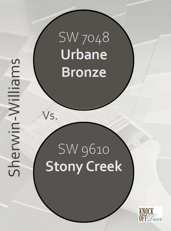 urbane bronze vs stony creek