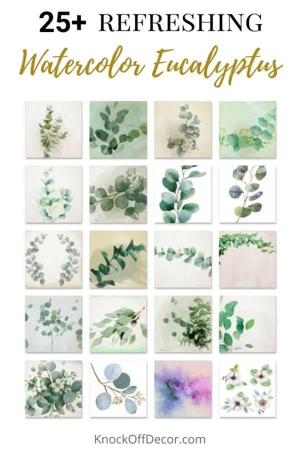 watercolor eucalyptus hdr