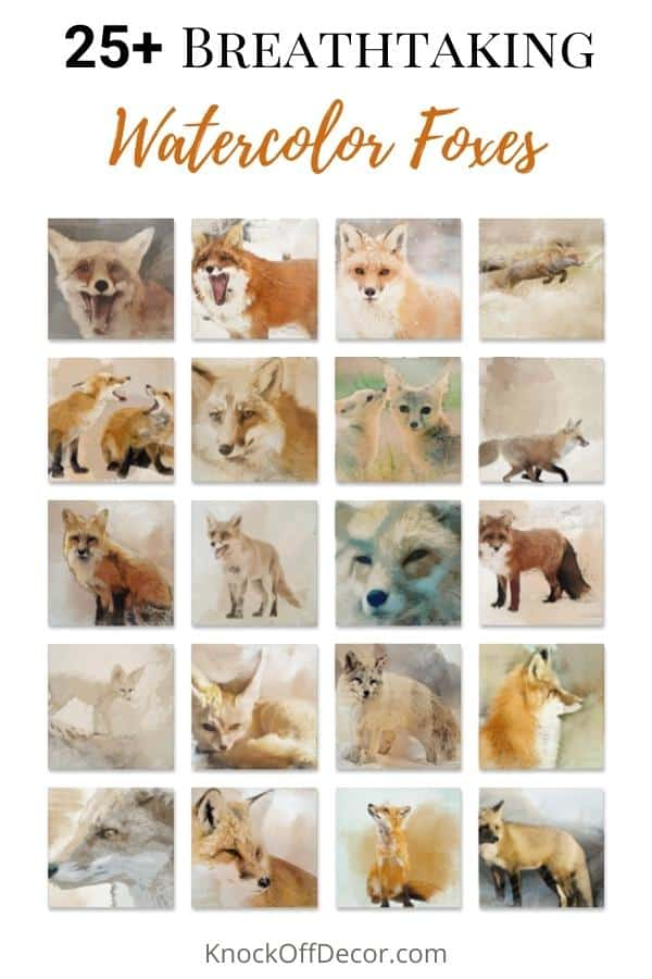 watercolor fox hdr