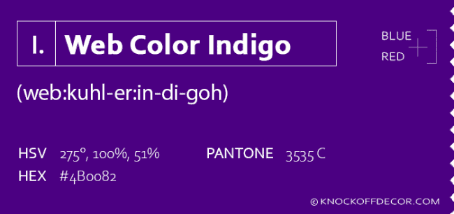 web color indigo info box