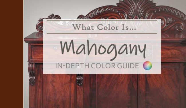 what color is mahogany hdr