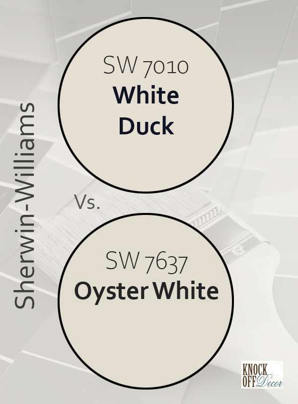 white duck vs oyster white