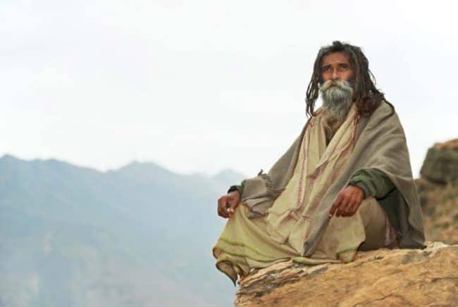 wise eldery monk